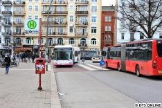 Enders 708, ein Irvine aus Leipzig erreicht den Bahnhof Sternschanze