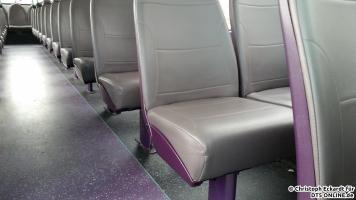 Die Sitze der neueren Busse sind ausgesprochen bequem und so lassen sich auch die längeren Fahrten gut aushalten.