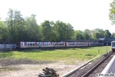 Orts- und Tageswechsel: Zum Hafegeburtstag fuhr die U4 mit 8 bzw. 9 Wagen