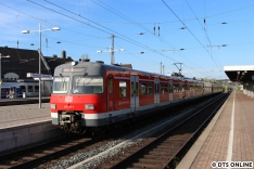 In Vohwinkel angekommen fuhr ein Zug der legendären Baureihe 420 ein, welch ein Zufall!