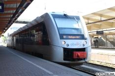 Eine Diesel-S-Bahn (LINT) von abellio, die S7 nach Solingen