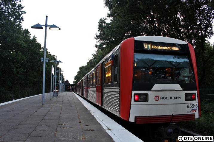 Nach Hause brachte mich der DT3 855. der einzige DT3 an diesem Tag auf der U1.