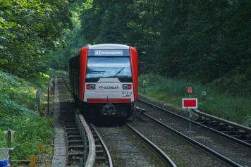 Ausfahrt aus der Haltestelle Buckhorn nach Volksdorf