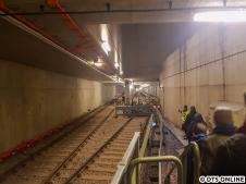 Am Sonntag ging es für mich in den Tunnel. An den Technikräumen vorbei...