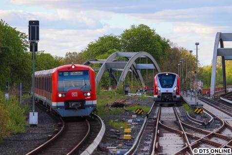 Am 8. Mai treffen in Ohlsdorf die Züge 4097 und 9104 aufeinander.