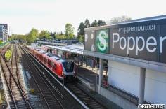 9104 in Poppenbüttel. Im Februar diesen Jahres war hier bereits der 9002 bei Dunkelheit abgelichtet worden...