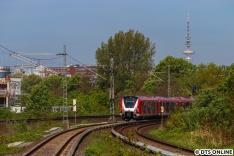 Über die Innenstadtschleife ging die Fahrt dann weiter in Richtung Bergedorf. Der 490 wird hier bald alltäglich werden.