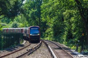 Zurück bei der U-Bahn: Am 17. Juli war es DT5 323 + 314 + 352.