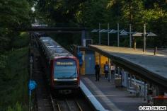 Am 13. Juli erreicht DT5 327 + 341 + 363 die Haltestelle Langenhorn Markt. Fünf Minuten später folgte die derzeit einzige DT3-Planleistung.