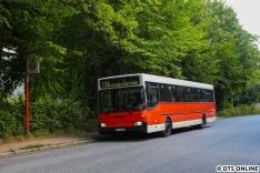 Es folgte eine Fahrt über Alsterchaussee entlang der (1)15 zum Agathe-Lasch-Weg
