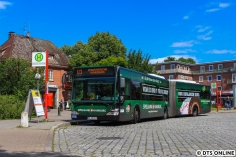 Während der Pause wird auch dieser Citaro-Gelenkbus aus 2008 festgehalten.