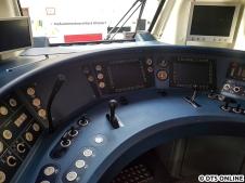 Der abgerüstete (= abgeschaltete) Führerstand des 490 502.