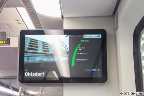 Kurz vor elf wurde der Zug dann aufgerüstet als S1 nach Wedel.
