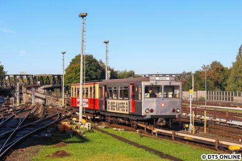 Los ging es am Morgen mit dem TU-Zug, welcher zunächst nach Ohlstedt fuhr.