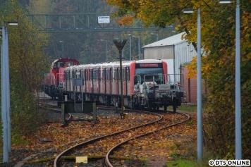 Abfahrt gegen 12 Uhr: 808 auf dem Lagerplatz in Ohlsdorf