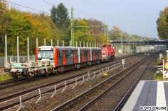 Zurück an der S-Bahn-Station Alte Wöhr überraschte mich die Zuführung des DT3 856 ein wenig, wenigstens ein Nachschuss mit der richtigen Kamera war drin.