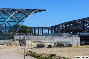 Das südliche Ende des Bahnhofs