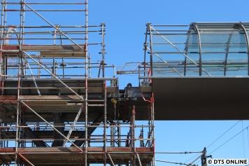 Detailaufnahme der Brückenverbindung.