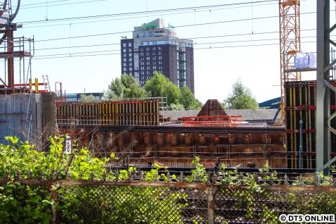 Blick auf die Baustelle der S-Bahn.