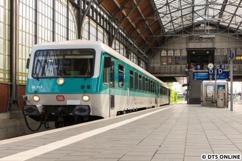 628 201 am Morgen im Lübecker Hauptbahnhof