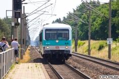 Zurück am Bahnhof: Der 628 201 fährt zum zweiten Mal Richtung Hamburg.