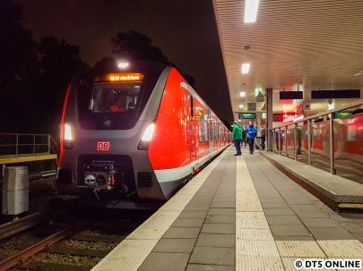 9101 auf der ersten ET 490-Probefahrt im Netz der Hamburger S-Bahn, 11.10.2016
