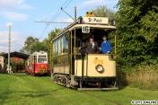 Nach dem offiziellen Programm zog es eine Hamburger Straßenbahn aus den Anfangstagen noch einmal auf Strecke: Der Z1P 656, welcher 1894 von der Waggonfabrik Falkenried gebaut wurde.