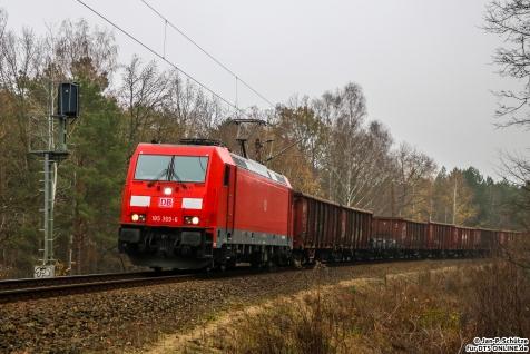 185 369 an der Verbindungskurve vom Berliner Außenring nach Hennigsdorf