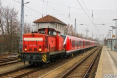 345 107 zieht 490 111 + 490 107 am Ende der Testfahrt zurück ins BT Werk Hennigsdorf