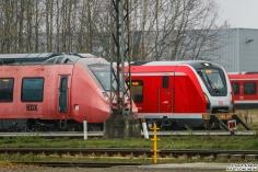 442 201 + 490 105 stehen abgestellt auf dem BT Gelände in Hennigsdorf