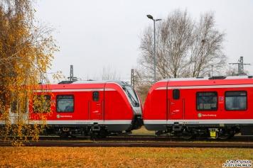 490 101 + 490 115 stehen im Bombardier Werk Hennigsdorf