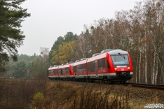 648 613 + 648 xxx erreicht als RE6 nach Wittenberge die Verbindungskurve vom Außenring nach Hennigsdorf