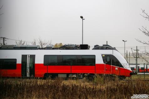 Ein Talent 3 steht im Bombardier Werk Hennigsdorf und wartet auf seine Auslieferung an die ÖBB nach Österreich