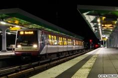 Die U1 war zwischen Wandsbek Markt und Wandsbek-Gartenstadt unterbrochen, sodass die U1 für mehrere Wochen mit der U3 bis Barmbek verknüpft wurde. DT4 sieht man hier oben sonst nicht. In der Woche kamen ausschließlich 120m-Züge zum Einsatz, zum ersten Mal seit vielen Jahren.