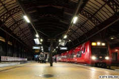 """Auch die Kopenhagener S-Bahn (""""S-Tog"""") durfte nicht fehlen. Hier steht eine S-Bahn im Hauptbahnhof Kopenhagens."""