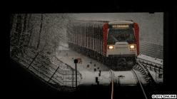 18. Januar: Schnee in Hamburg, und auch mal wieder ein DT3 auf der Linie U1. Ein Bild quer durch das P+R-Parkhaus Langenhorn Markt.
