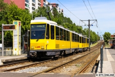 Am 23. Mai verschlug es mich nach Berlin, wo diese Tatra-Doppeltraktion auf der M17 festgehalten wurde.