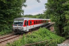 24. Juni: Sylt Shuttle Plus-628 540 als Sonderzug nach Schönberg. Die Strecke wird reaktiviert, die Schwentinentalbrücke wurde kürzlich ausgetauscht. Zuletzt war sie nur noch sehr langsam befahrbar.