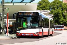 Ebenfalls am 29. Juli fotografierte ich den Solaris-Gelenkbus 7741 als U1-SEV für die Haltestellen Wartenau und Lübecker Straße. Die Stationen wurden an dem Wochenende durchfahren. Die Solaris-Busse sind immernoch kaum auf Hamburgs Straßen unterwegs, zu den 5 Solo- und Gelenkbussen, sowie 3 Elektrobussen stoßen dieser Tage zwei weitere new Urbino 12 electric.