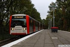 Am 29. Oktober hielt ich den ersten planmäßigen DT3-Verstärkerzug bis Garstedt fest. Seit Jahren kam dieses Ziel nicht mehr regelmäßig zum Vorschein.
