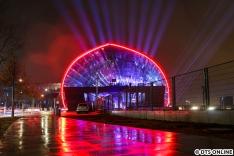 Die Lichtshow gibt es Freitag bis Sonntag von 17 bis 21 Uhr zu sehen - aber nur am Eröffnungswochenende.