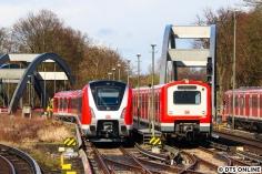 490 120 und 472 003 in der Kehre Ohlsdorf