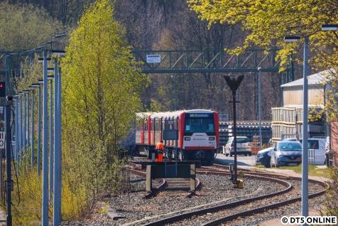 DT3 865 auf dem Lagerplatz in Ohlsdorf.