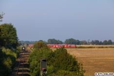 EC nach Fehmarn trifft RE nach Burg auf Fehmarn.