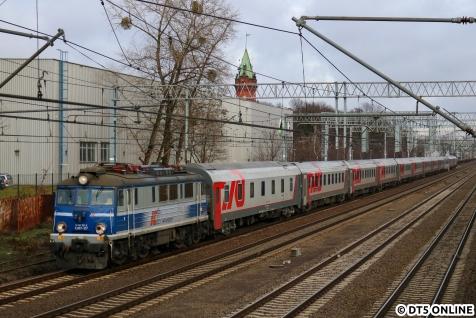 Ortswechsel: In Pruszków fotografierten wir zunächst den Moskau-Pariser Zug.