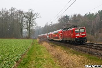Bereits historisch ist diesser Anblick: Seit dem Fahrplanwechsel im Dezember fährt die Regionalbahn Schleswig-Holstein nicht mehr auf dem RE1 die Büchener Zwischenzüge. Sie werden nun wie die anderen Züge von DB Regio Nordost gefahren.