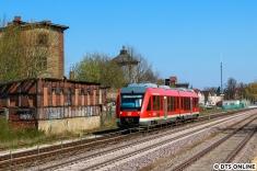 In Perleberg wurde der Zug ein zweites Mal fotografiert. Für etwas mehr Vielfalt zeige ich aber den LINT, der dort auch fuhr.