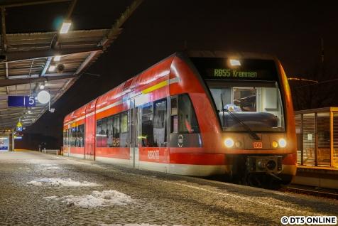 Am selben Abend hielt ich dann auch einen Stadler GTW von DB Regio im Hennigsdorfer Bahnhof fest.