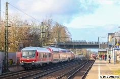 Da ich noch absolut kein Motivkunde hatte, fuhr ich am 12. Februar in einer Uni-Pause mal kurz nach Thesdorf um dort den RE6-Ersatzpark mit Wittenberger Steuerwagen zu erwischen.
