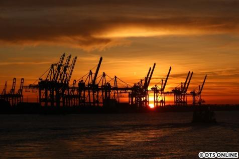 Sonnenuntergang Docklands